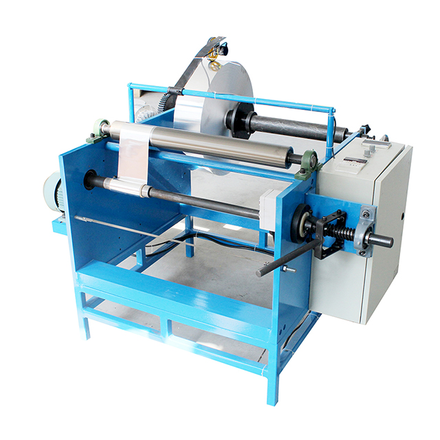 Manual Aluminum Foll/Baking paper Rewinder Machine (One Shaft)